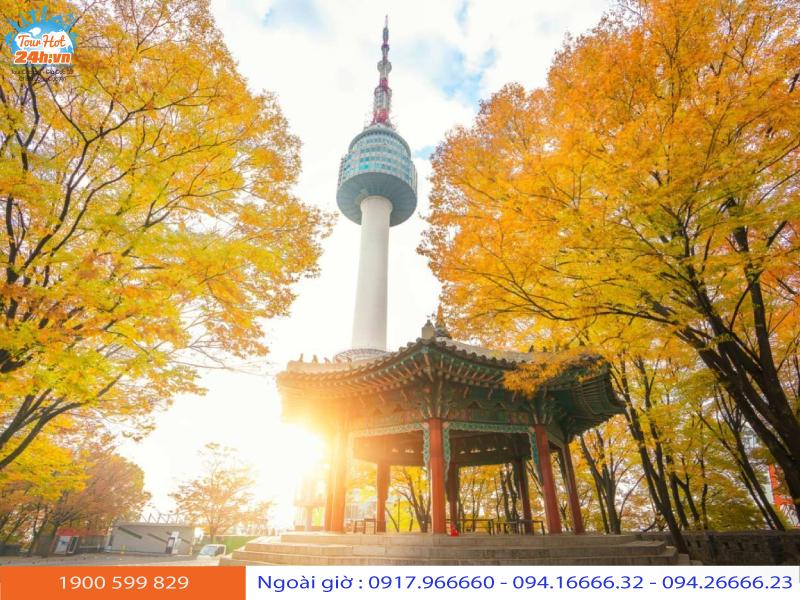 tour đi Hàn Quốc tháng 10